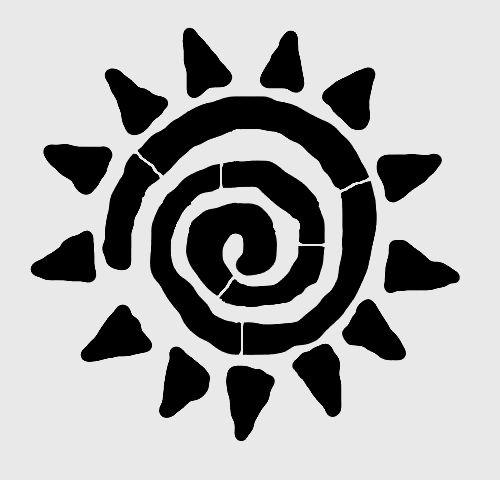Stencils Templates   6 25 Whimsical Sun Stencil Celestial Suns Stencils Template Paint