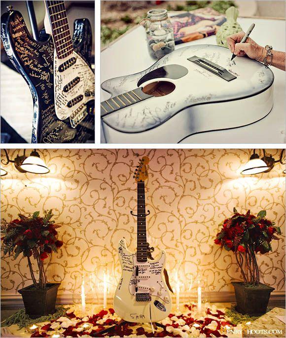 Music Themed Wedding Guest Book Ideas