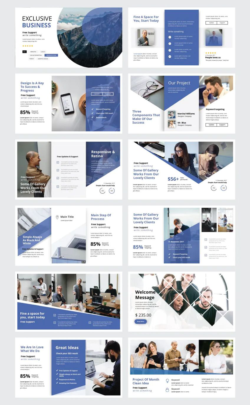Modern And Clean Business Powerpoint Template 30 Unique Slides Modern Powerpoint Design Powerpoint Presentation Design Presentation Design Layout