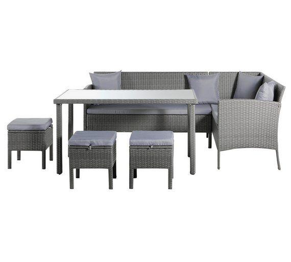 Aldi Corner Rattan Effect Sofa Cover: Rattan Sofa Dining Set Argos