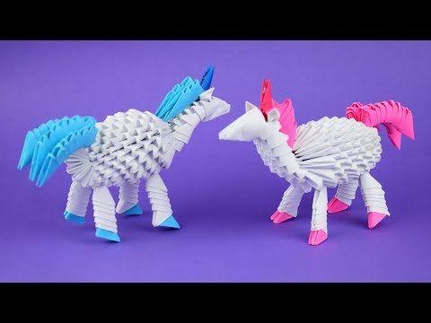 Photo of Как сделать единорога из бумаги в технике модульное оригами. Пошаговая сборка, мастер класс