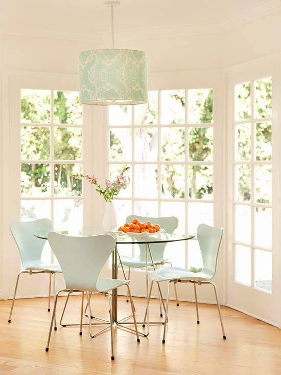 Casual Dining Rooms. Lampshade IdeasLampshadesDining ChairsTable ...