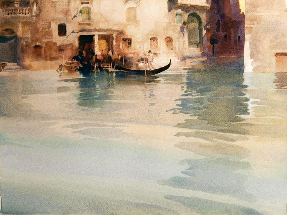 Sir William Russell Flint 1880 1969 Uk Scotland Traghetto