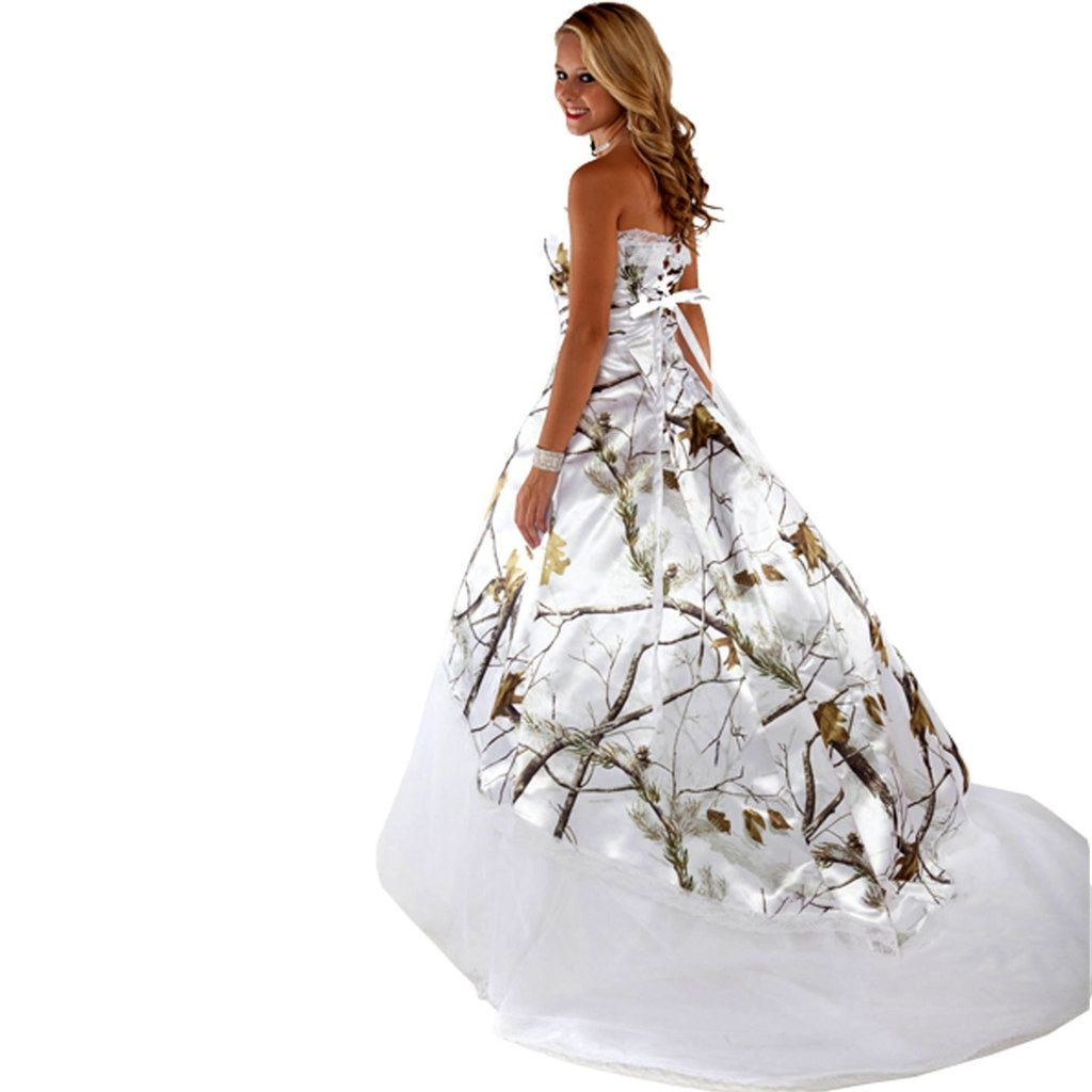 Realtree Camo Wedding Gown With Tulle Camo Wedding Dresses Camo