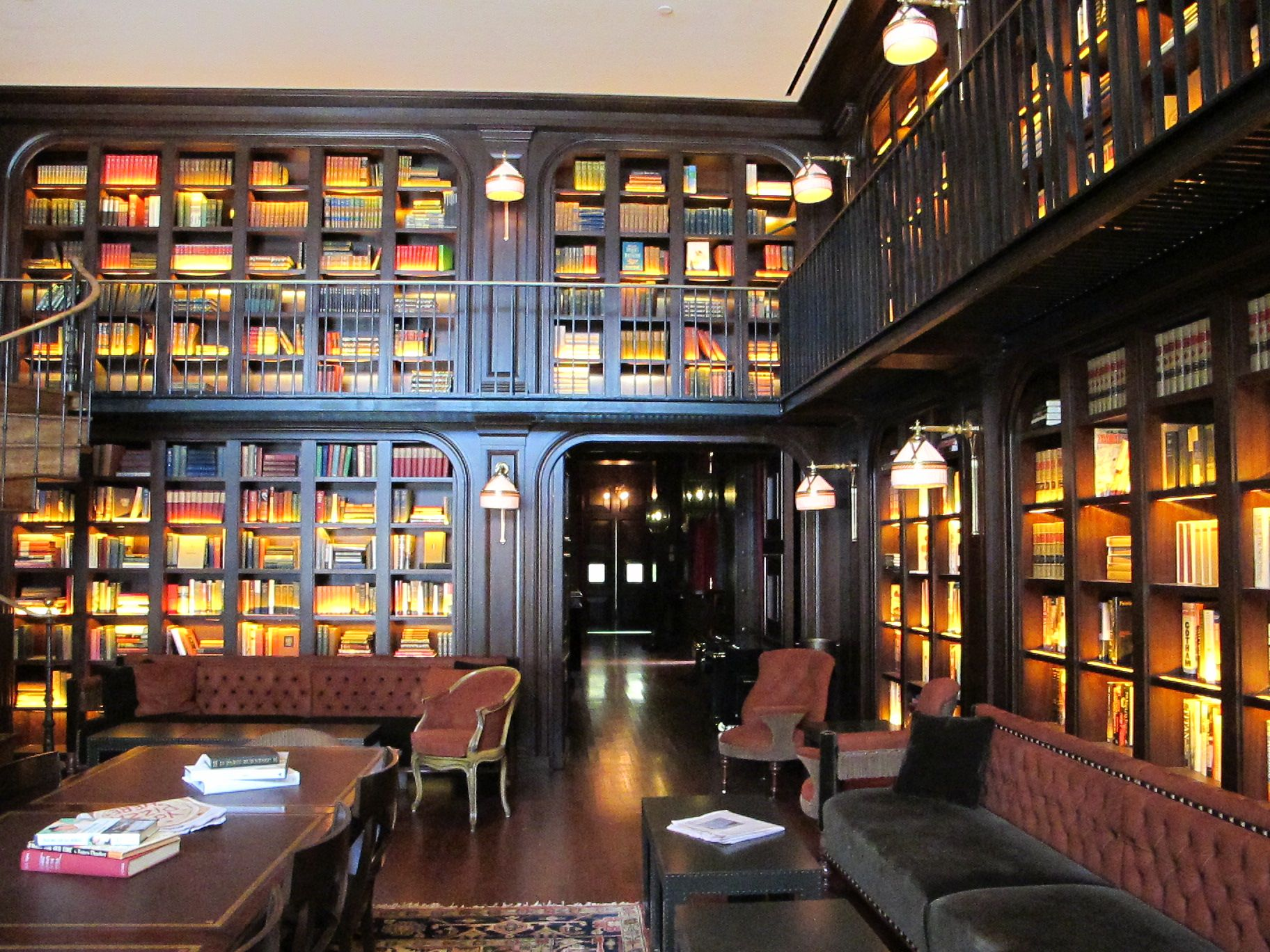 We love the hotel's library curated by Thatcher Wine