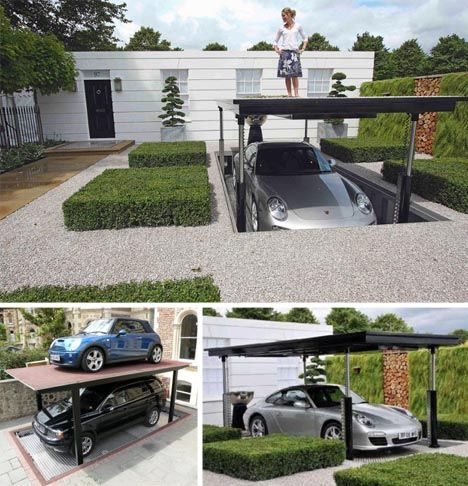 Great concept for car storage and security for small, urban spaces. Cardok  is the underground parking solution that doubles your parking space and  provides ...