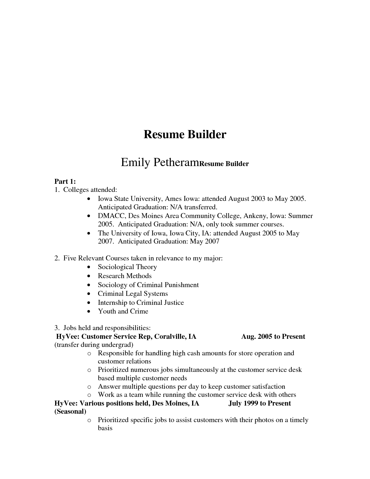 Army Resume Builder Resume Template Builder  HttpWwwJobresume