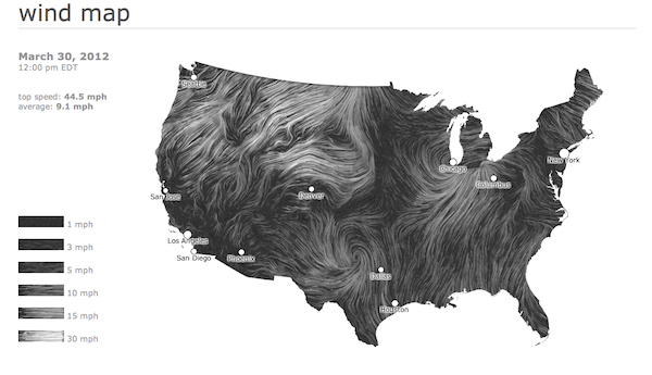 Mapping The Winds Wind Map Weather Data Wind