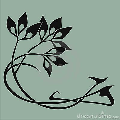 Art nouveau element stock vector illustration of interwoven also best simple design try images in doodles zentangle rh pinterest