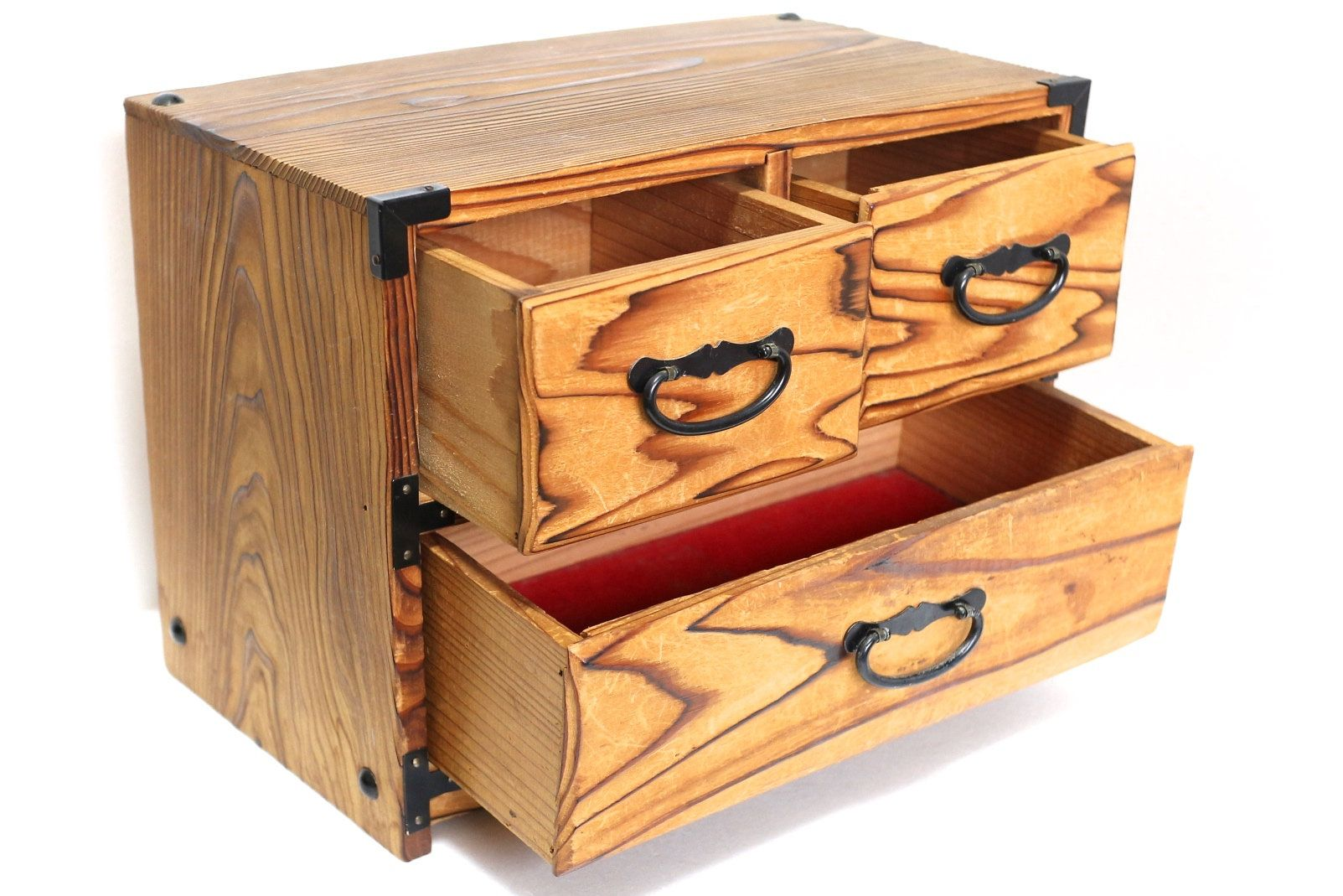 Japanese Kodansu Small Wood Drawer Japanese Wooden Chest Wooden Storage Box Trinket Box Small Cabinet Jewelry Box Wood Storage Box Wood Storage Wooden Chest