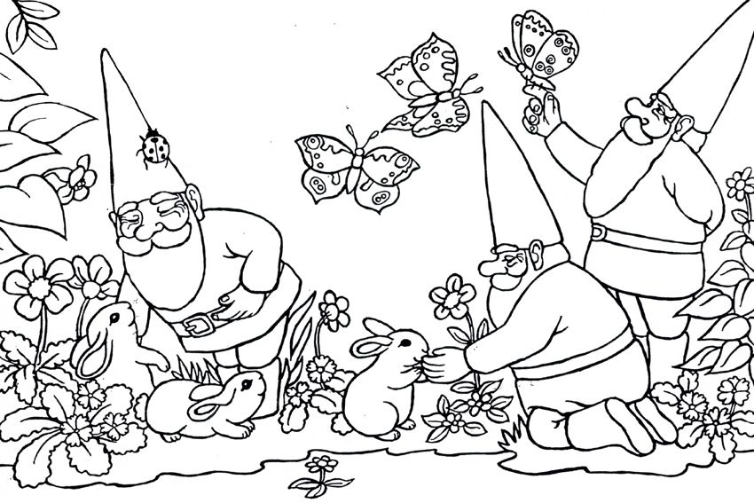 Cartoon Characters Coloring Bold Ideas Gnomes Coloring Pages Kids