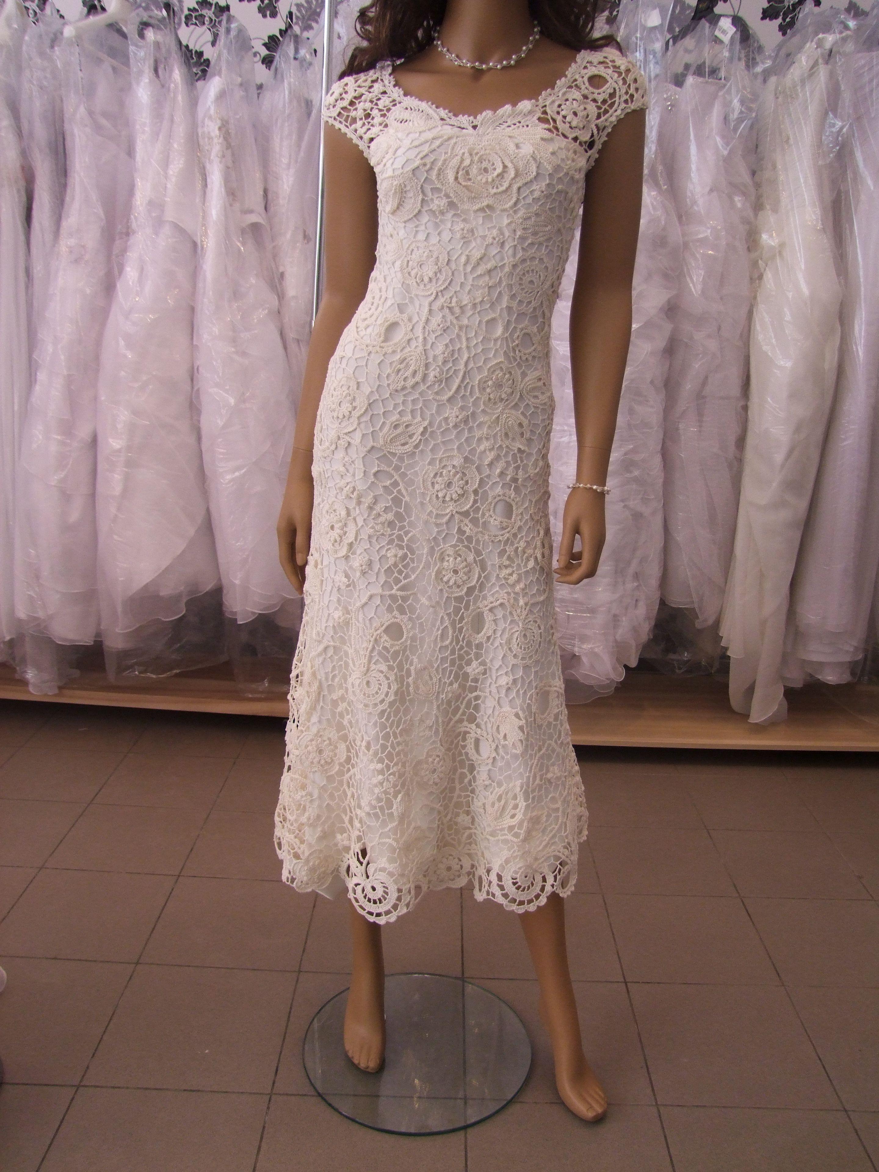 Irish crochet wedding dress   Irské háčkování - šaty, kabáty ...