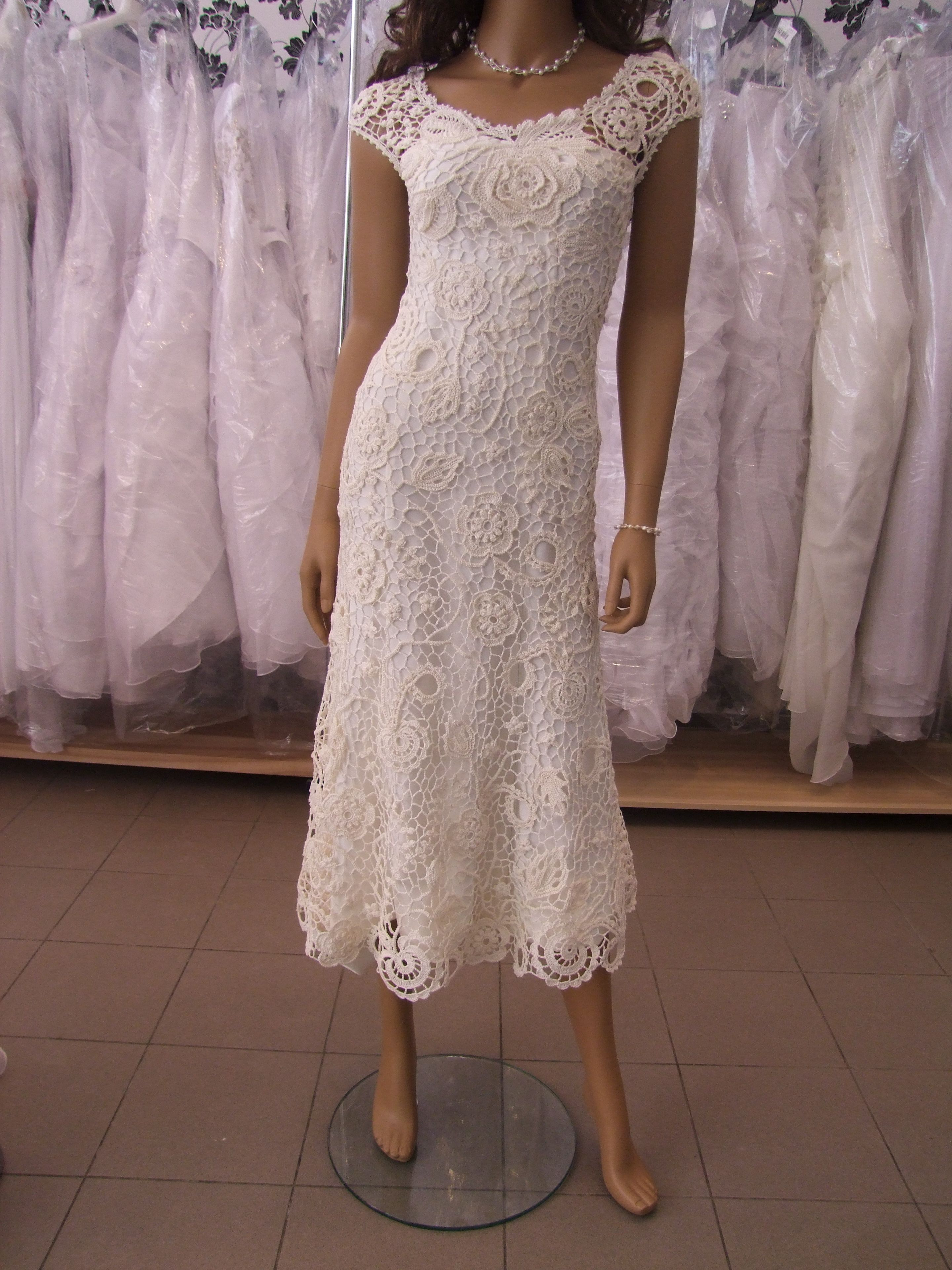 Irish crochet wedding dress Crochet wedding dresses