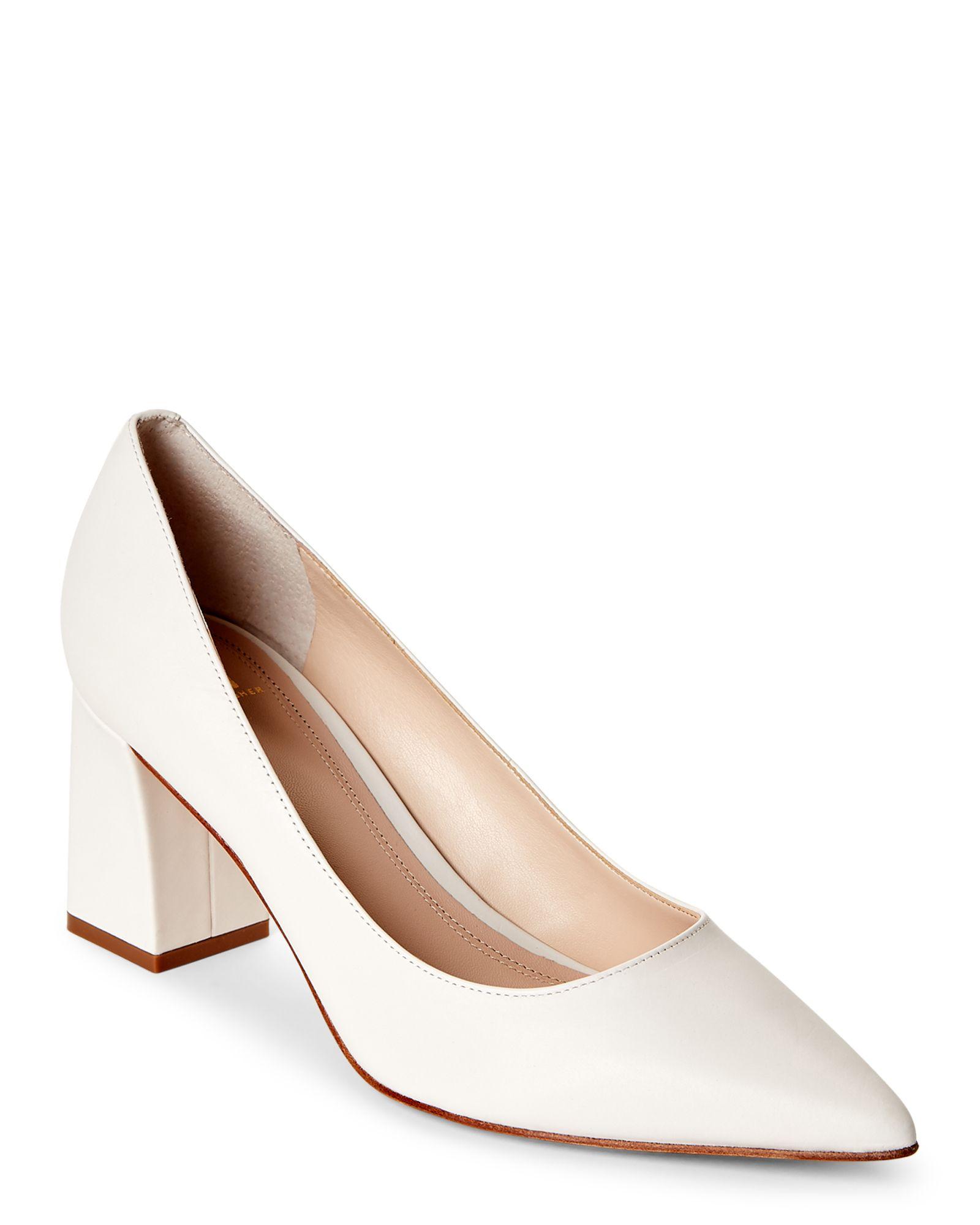 4c99869c36 Marc Fisher Ltd Cream Zala Pointed Toe Block Heel Pumps | *Apparel ...