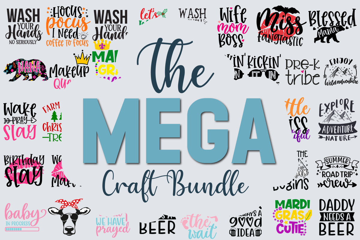 Download Free The Mega Craft Bundle Is Here Get This Stunning Bundle With Over 170 Unique Designs For Just 15 Norma In 2020 Font Bundles Christmas Mom And So The Adventure Begins PSD Mockup Template