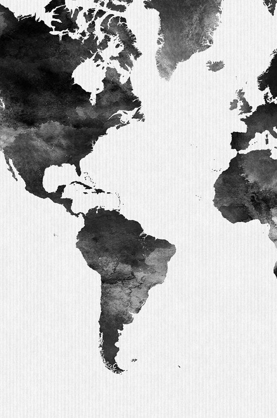 World map watercolor print travel map large world map minimalist world map watercolor print travel map large world map minimalist world map black white watercolor poster home decor artprintsvicky gumiabroncs Images