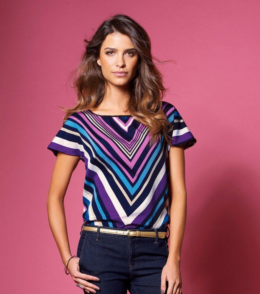 Camisa blusa mujer manga corta estampada - Camisas y Blusas ...
