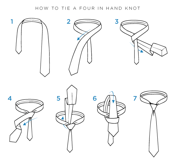 Four In Hand Knot Step By Step Instructions