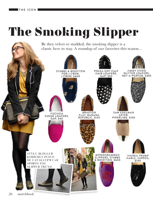Smoking slippers - via Matchbook Mag