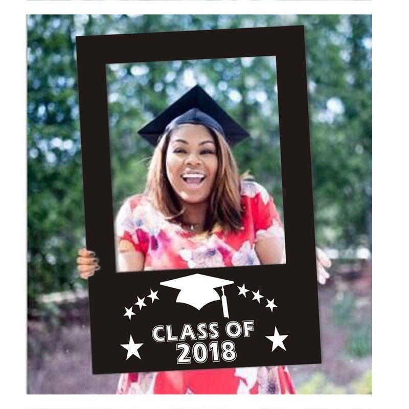 Class of 2018 graduation selfie frame party photo prop