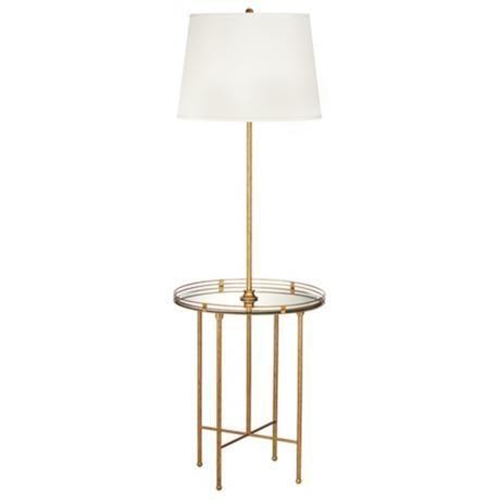 Kathy Ireland Golden Safari Floor Lamp With Tray Table - more on the ...