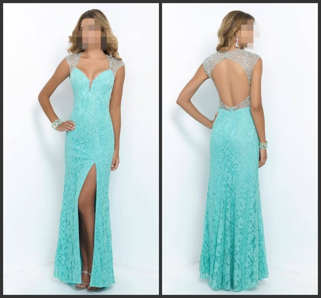Lace Beaded Prom Dress Sexy Off Shoulder Prom Dresses Sleeveless ...