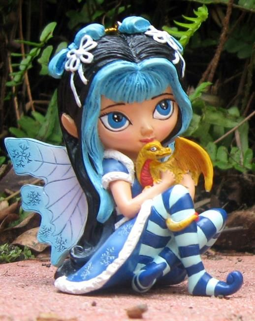 Art 'Never Blue with You - Bradford Exchange We Wish You a Fairy Christmas' - by Jasmine Ann Becket-Griffith from Sculptures - 3-D Art