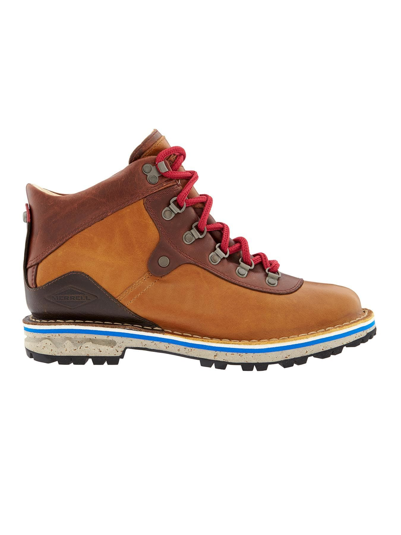 ce0a00694286 The heritage Merrell® boot with premium soft leather and a faux-fur lining  and impermeable membrane for waterproof coverage.