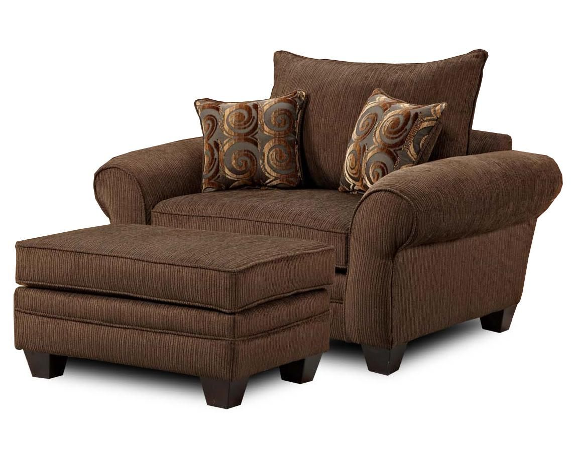 Comfy Chair With Ottoman Mh910 Oversized Chair And Ottoman Combination By Townhouse