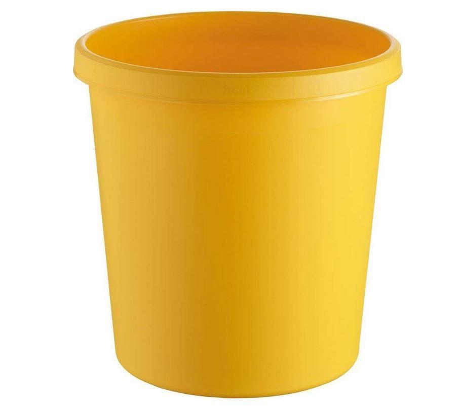 corbeille a papier jaune 18 litres