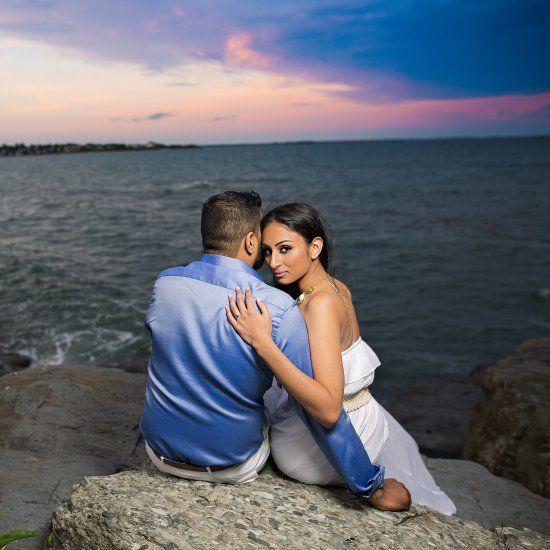 Romantic, Edgy engagement session around Newport Rhode Island
