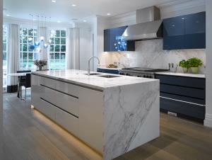 Modern Luxury Kitchen White Gloss Kitchen High Gloss Kitchen Cabinets Blue White Kitchens