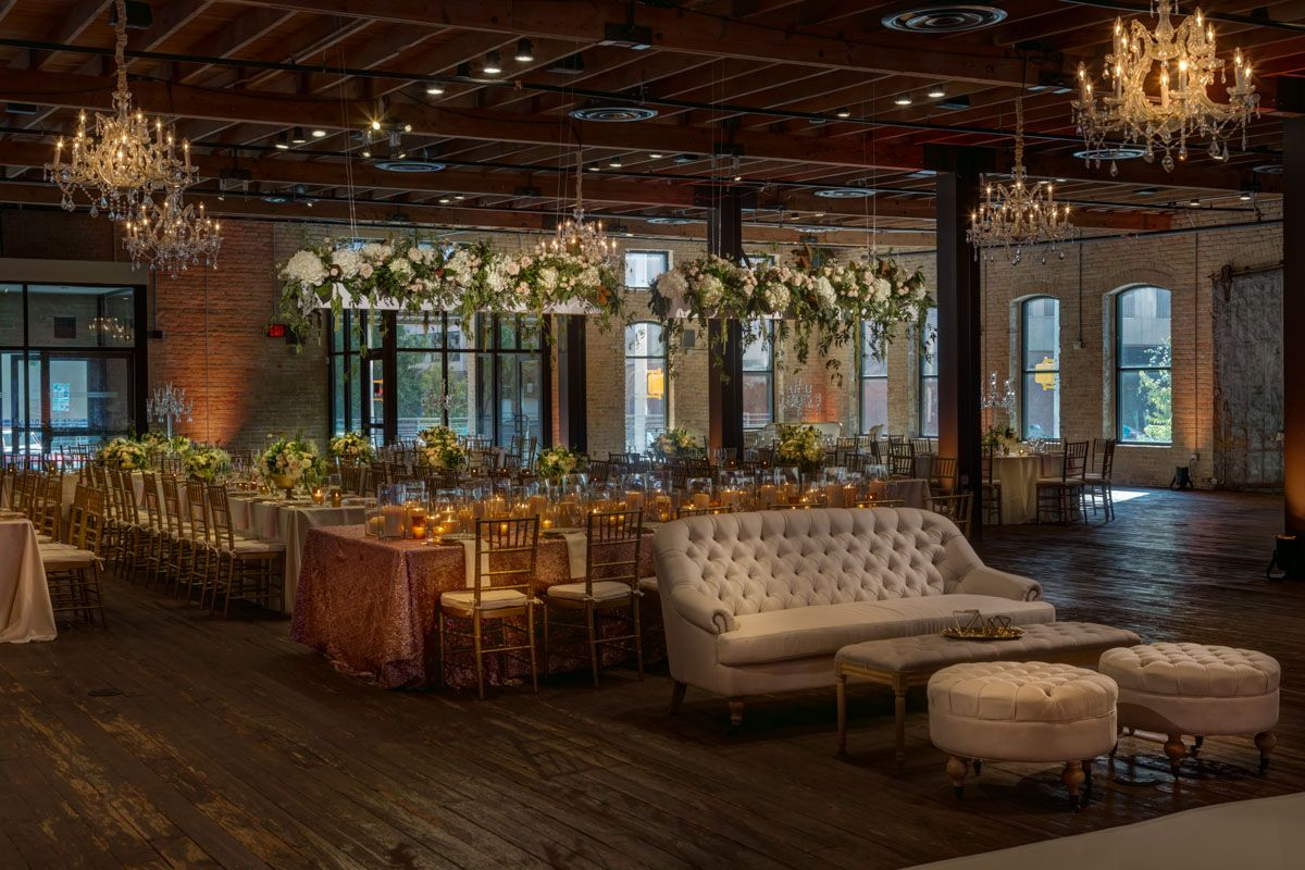 Most Beautiful Industrial Wedding Venues Brazos Hall By Jerry Hayes Photography