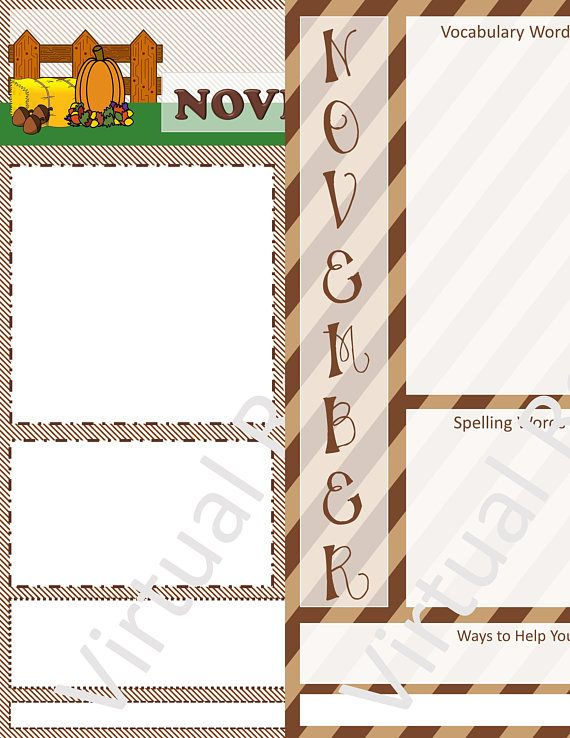 Two  Weekly Newsletter Templates For November  Instant Digital