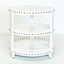 White Side Table Studded 3 Tier Home Goods Decor White Side Tables Decor