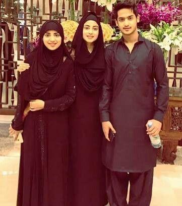 Sajal Ali with her brother and sister | sajal ali | Sajal ali