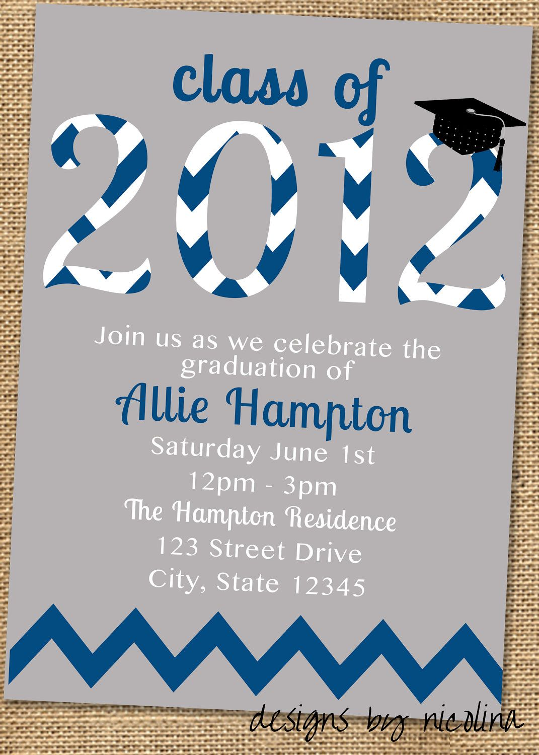 Graduation Party PRINTABLE Invitation or by designsbynicolina