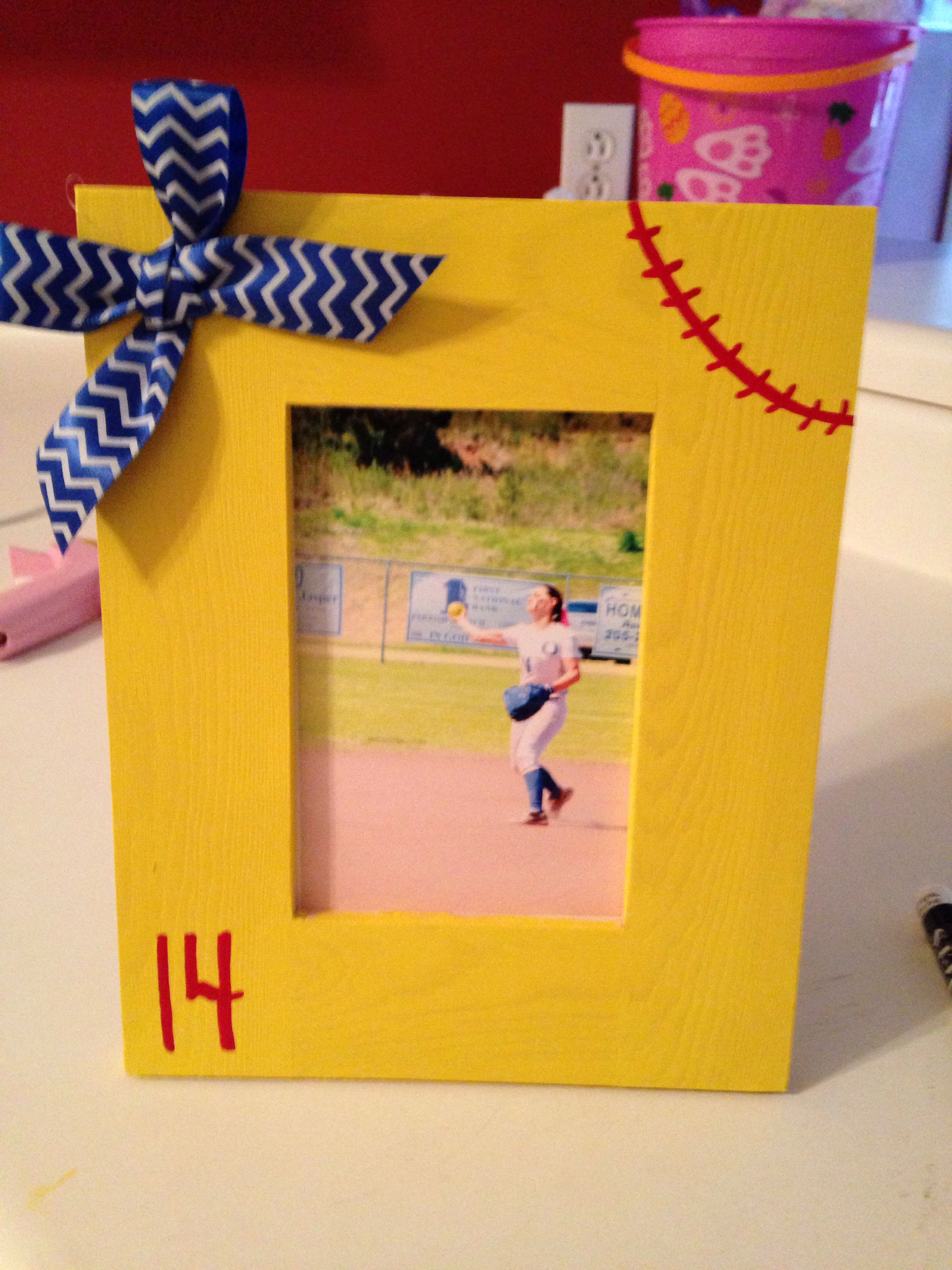 Softball frame | Softball | Pinterest | Softball gifts, Softball ...