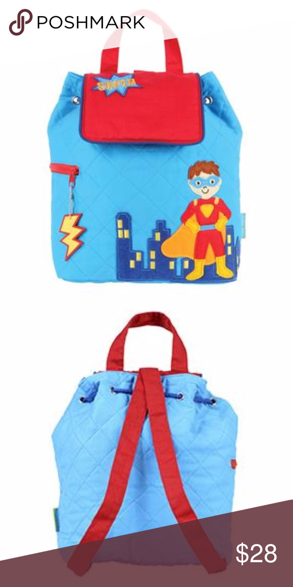 4220c3bcbe02 Stephen Joseph Quilted Superhero Backpack New Durable backpack  doubles as  a diaper bag Magnetic snap