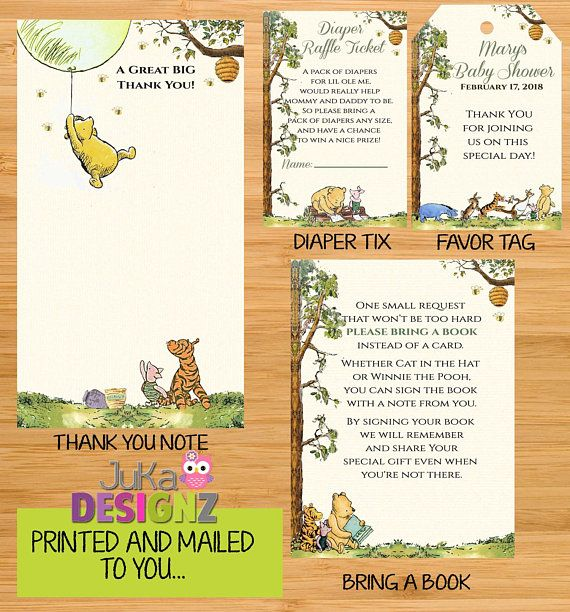 Classic Winnie The Pooh Baby Shower Invitations And More Variety