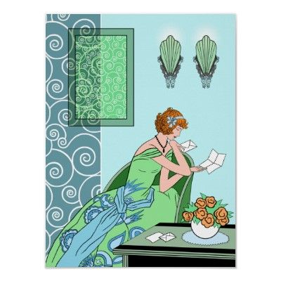 Clariceu0027s Letter - Art Deco Fashion Design Posters from Zazzle - fashion design posters