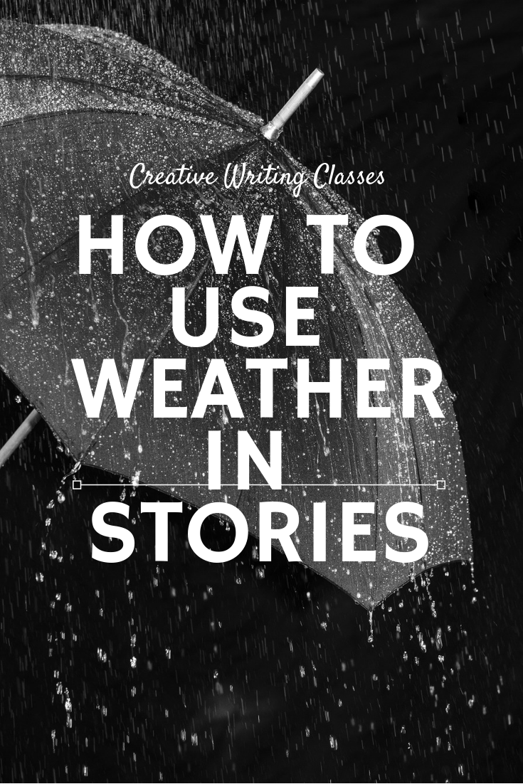 FREE skillshare.com creative writing class. Use weather to show your characters,...