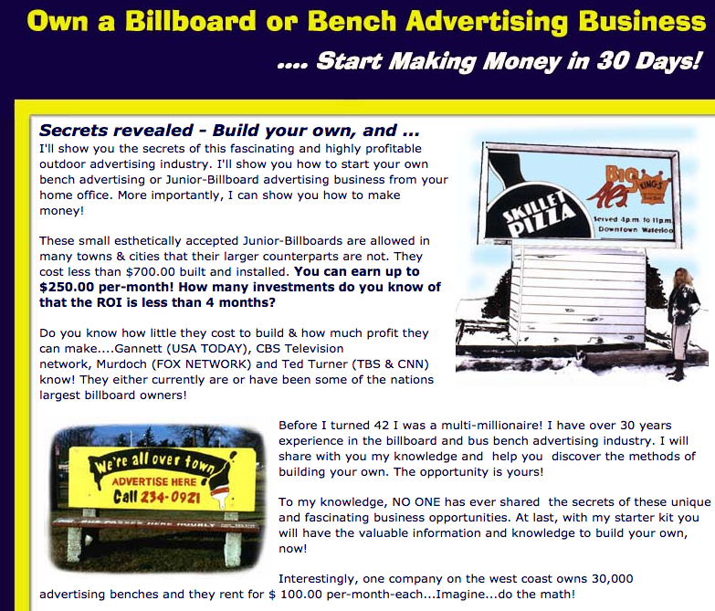 Business Opportunity Franchise Business Opportunities Business Advertising Billboard Advertising