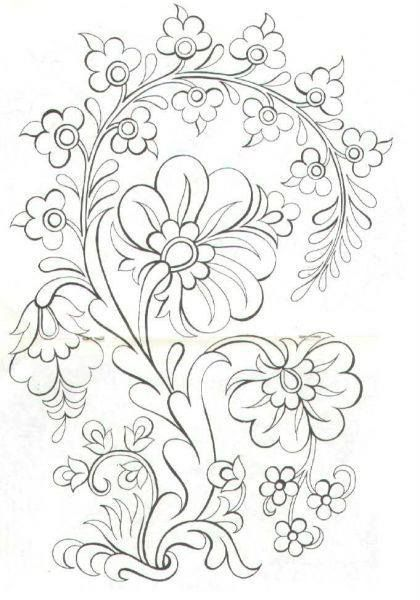 Pin By Olena Teodorovich On Disenos Plantillas Coloring Pages Folk Embroidery Embroidery Patterns