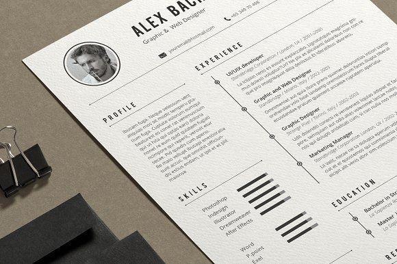 Alex Resume by Estartshop on @creativemarket Professional printable