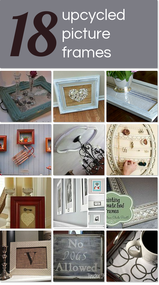 Repurposed Picture Frames Idea Box By Cyndi The Decorating Chica
