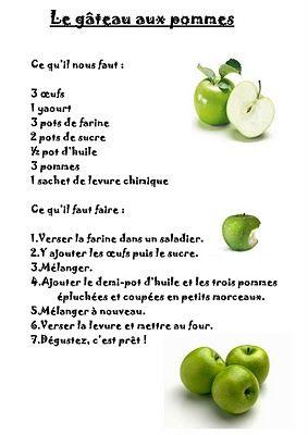 Nouveau gateau aux pommes