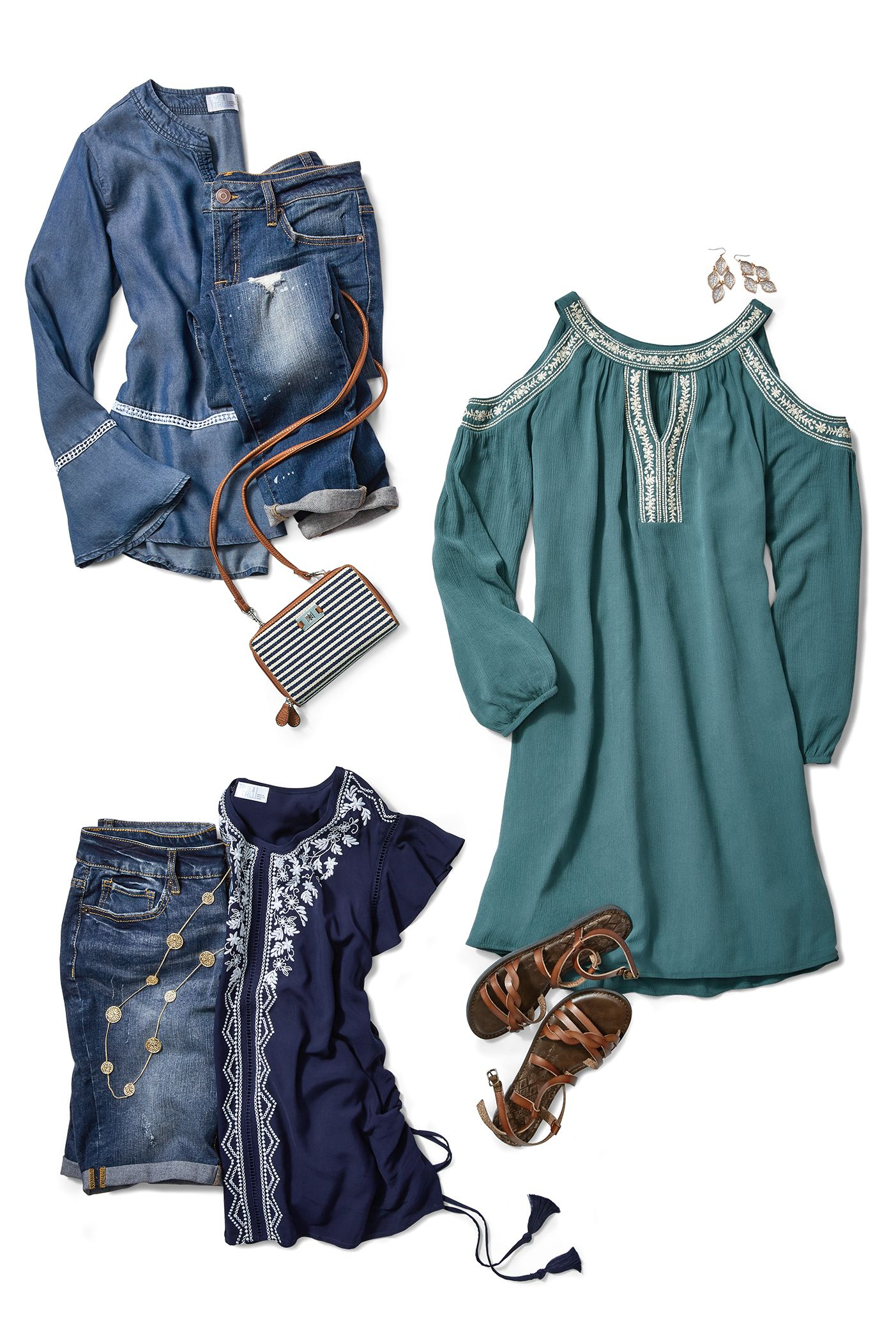 522734dac27c8 Shades of denim blues from Time and Tru  sponsored  timeandtru  walmart   springstyle