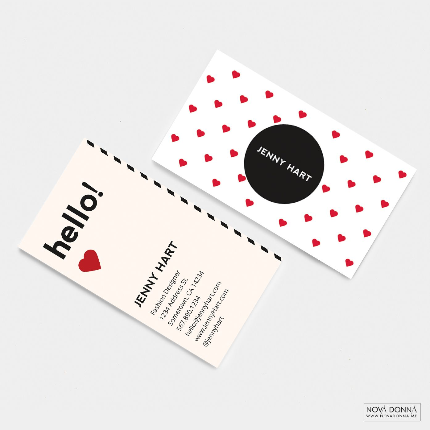 Business Card Template Designs Modern Hearts Business Card Template Design Business Card Template Free Business Card Templates