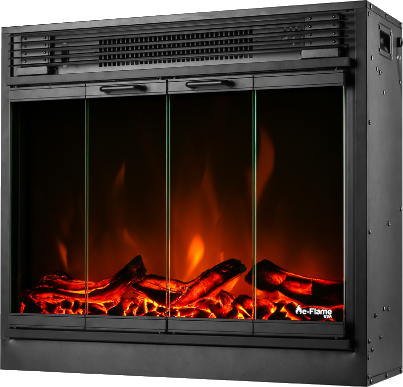 Montreal Led Electric Fireplace Stove Insert Portable Electric